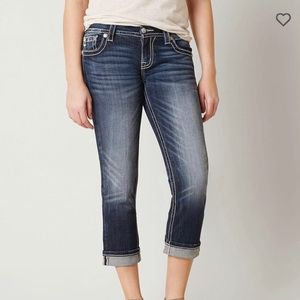Miss me easy stretch cropped jeans size 28